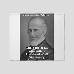 The Hope Of All Who Suffer - John Greenleaf Whitti