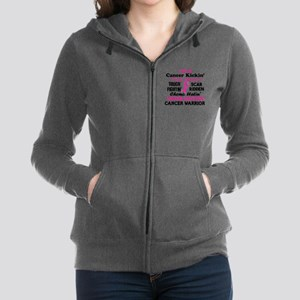 -Cancer Kickin' Cancer Warrior (Breast Sweatshirt