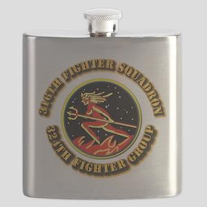 AAC - 316th FS, 324th FG Flask