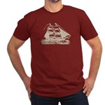 Vintage Sail Ship Men's Fitted T-Shirt (dark)