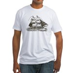 Vintage Sail Ship Fitted T-Shirt