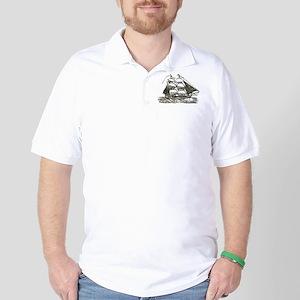 Vintage Sail Ship Golf Shirt