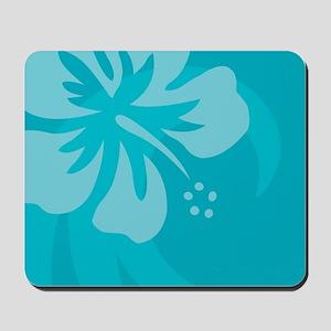 Hibiscus Light Blue Mousepad
