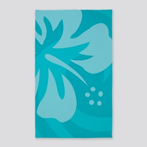 Hibiscus Light Blue 3'x5' Area Rug
