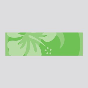 Hibiscus Green 36x11 Wall Decal