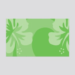 Hibiscus Green 35x21 Wall Decal