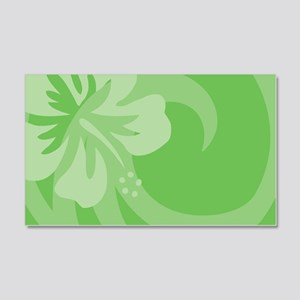 Hibiscus Green 20x12 Wall Decal