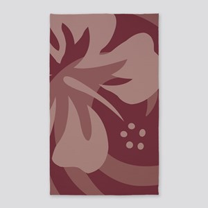 Hibiscus Brown 3'x5' Area Rug
