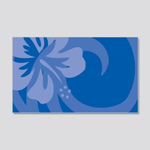 Hibiscus Blue 20x12 Wall Decal