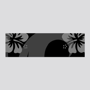 Hibiscus Black 20x6 Wall Decal