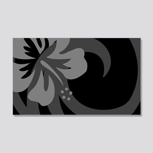 Hibiscus Black 20x12 Wall Decal