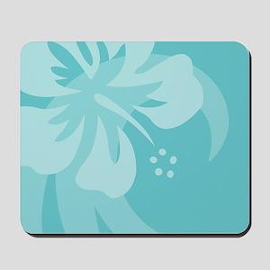 Hibiscus Aqua Mousepad
