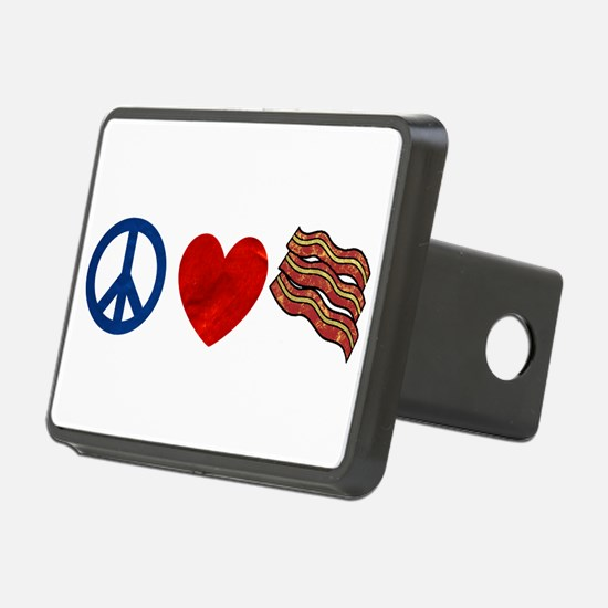 Peace Love and Bacon Strips Hitch Cover