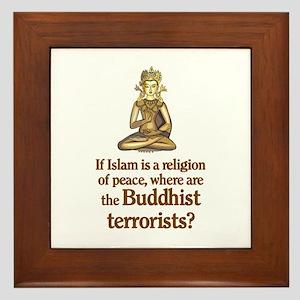 Buddhist Terrorists Framed Tile