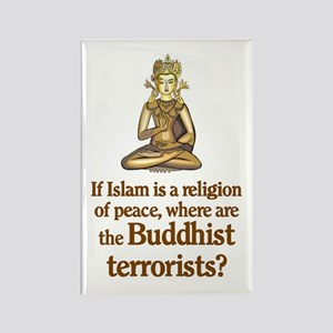 Buddhist Terrorists Rectangle Magnet