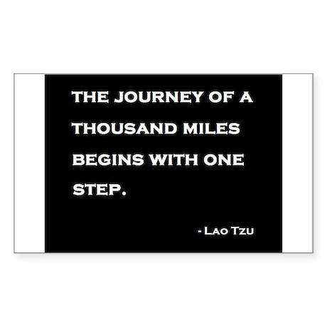 Long Journey Sticker (Rectangle)