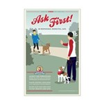 Ask First! Mini Poster Print