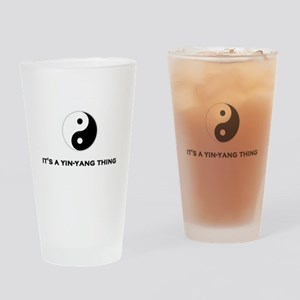 Yin Yang Thing Drinking Glass