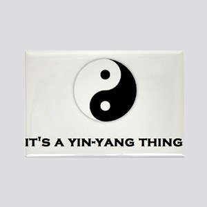 Yin Yang Thing Rectangle Magnet