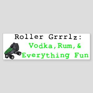 Roller Grrrlz Bumper Sticker