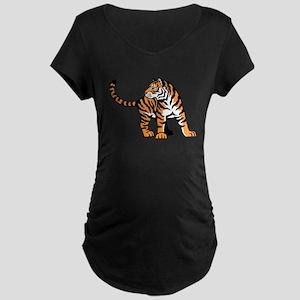 Bengal Tiger Maternity Dark T-Shirt