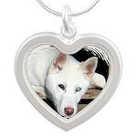 crackerbox Silver Heart Necklace