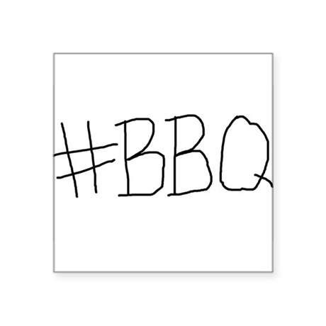 "#BBQ Square Sticker 3"" x 3"""