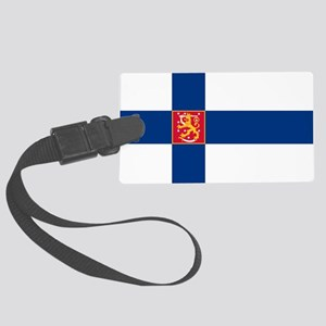State Flag of Finland Large Luggage Tag