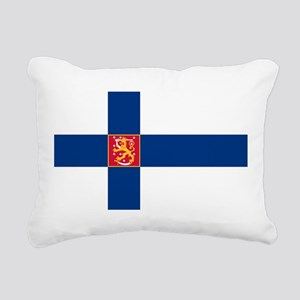 State Flag of Finland Rectangular Canvas Pillow