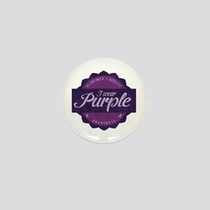 Alzheimer's Awareness Vintage Design Mini Button