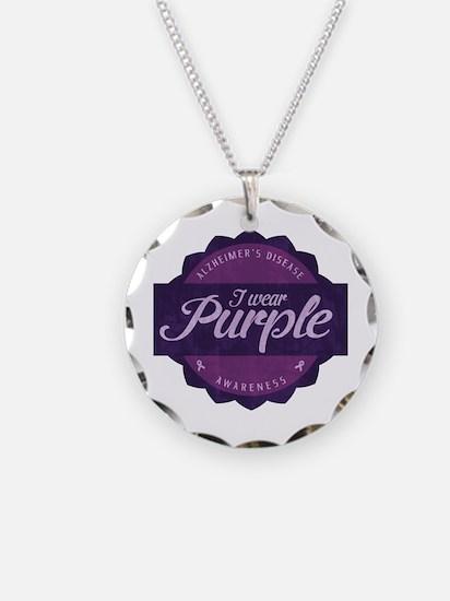 Alzheimer's Awareness Vintage Design Necklace