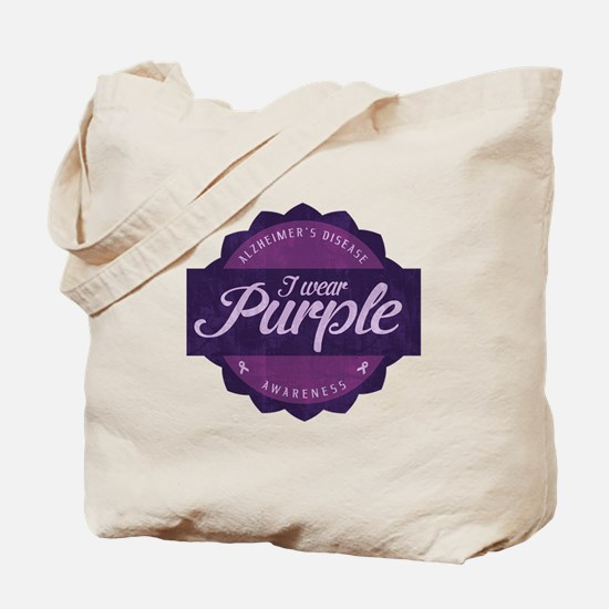 Alzheimer's Awareness Vintage Design Tote Bag