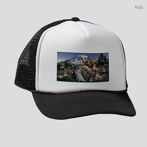 German Shepherd Country Kids Trucker hat