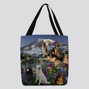German Shepherd Country Polyester Tote Bag