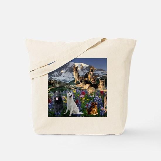 German Shepherd Country Tote Bag