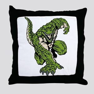Crocodile Mascot Throw Pillow