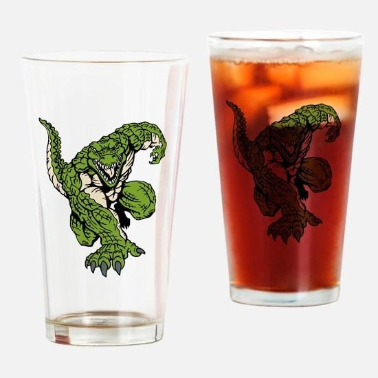 Crocodile Mascot Drinking Glass