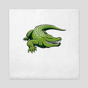 Green Alligator Queen Duvet