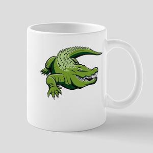 Green Alligator Mug
