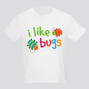 Cute I Like Bugs Kids Light T-Shirt