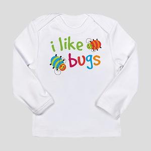 Cute I Like Bugs Long Sleeve Infant T-Shirt