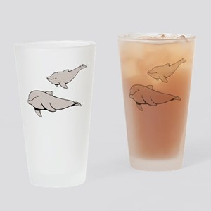 Buluga Whales Drinking Glass