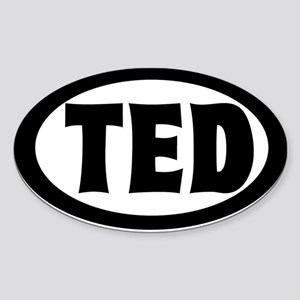 Ted's Auto Oval Sticker