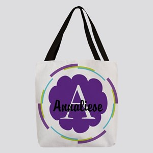 Personalized Name Monogram Gift Polyester Tote Bag