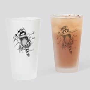 Raccoon Play Drinking Glass
