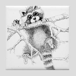 Raccoon Play Tile Coaster