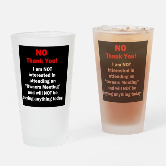 Unique Timeshares Drinking Glass