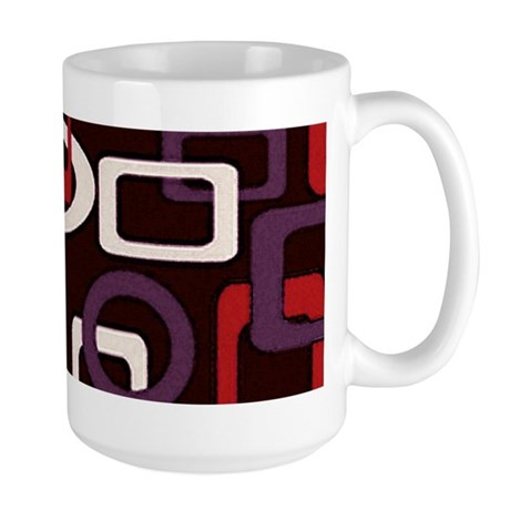 mod loops red purple Large Mug