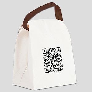 QR Code Canvas Lunch Bag
