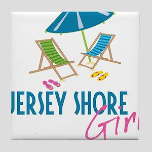 Jersey Shore Girl Tile Coaster
